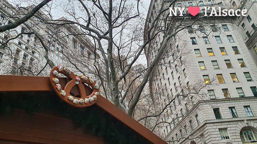 Le marché de Noël alsacien à New York.