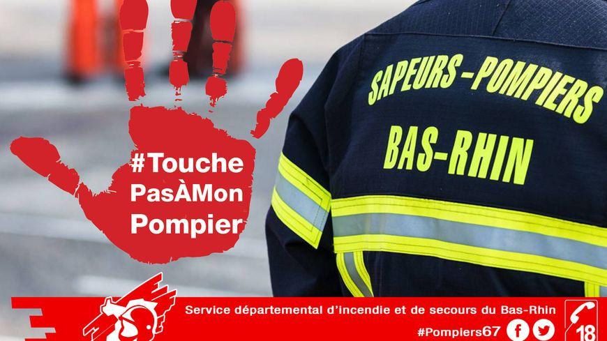 Affiche #TouchePasÀMonPompier