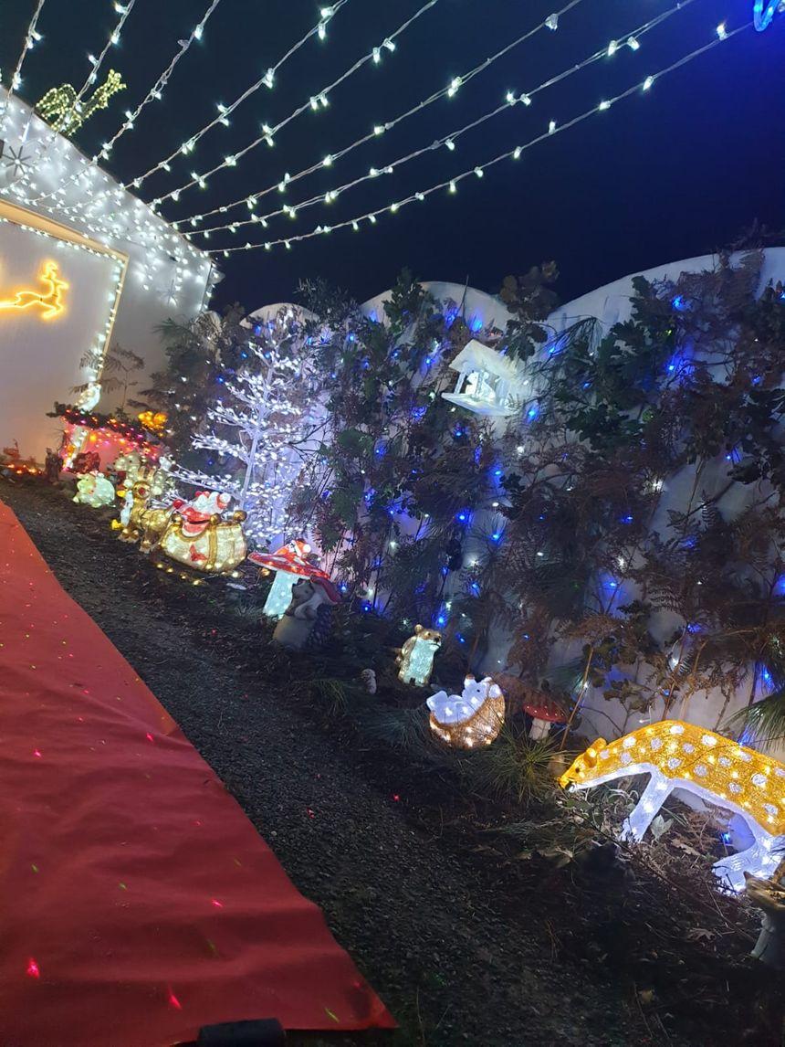 Les illuminations de la maison de Matthieu et Rudy