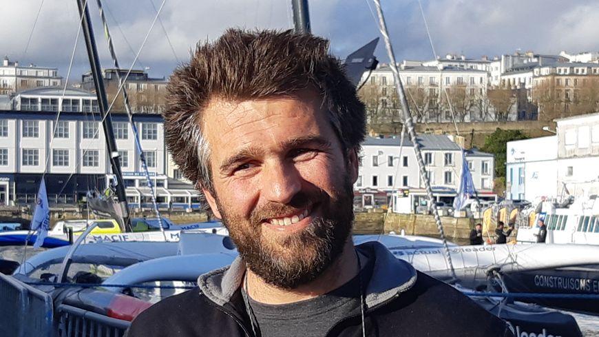 Ronan Gladu, tout sourire à l'arrivée à Brest