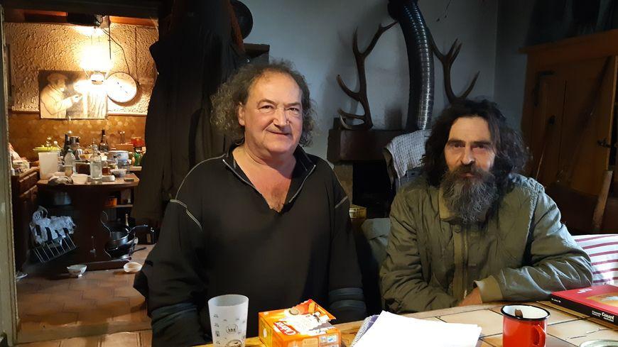 Gilles Gaussin (à gauche) et Manuel Martinez, naturalistes de passion à Granges-le-Bourg