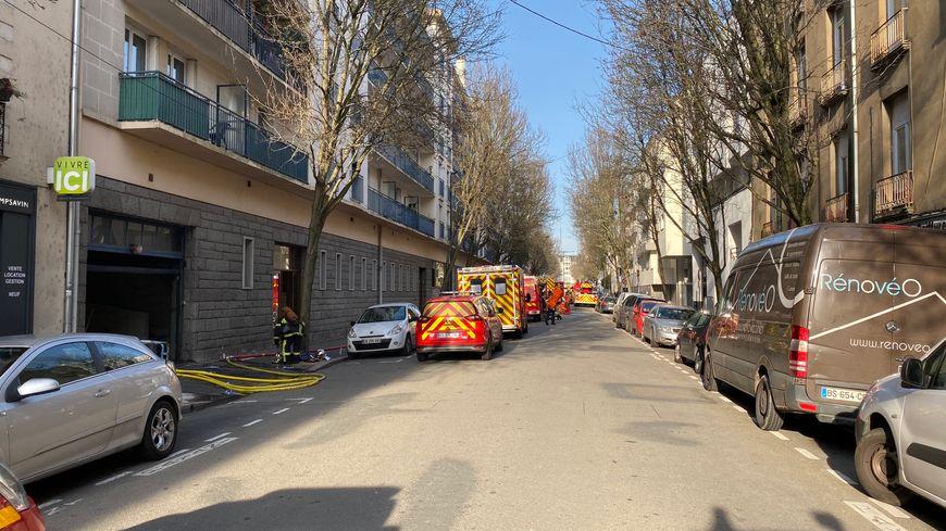 Un incendie s'est déclaré ce samedi, rue Lamoricière dans le centre-ville de Nantes