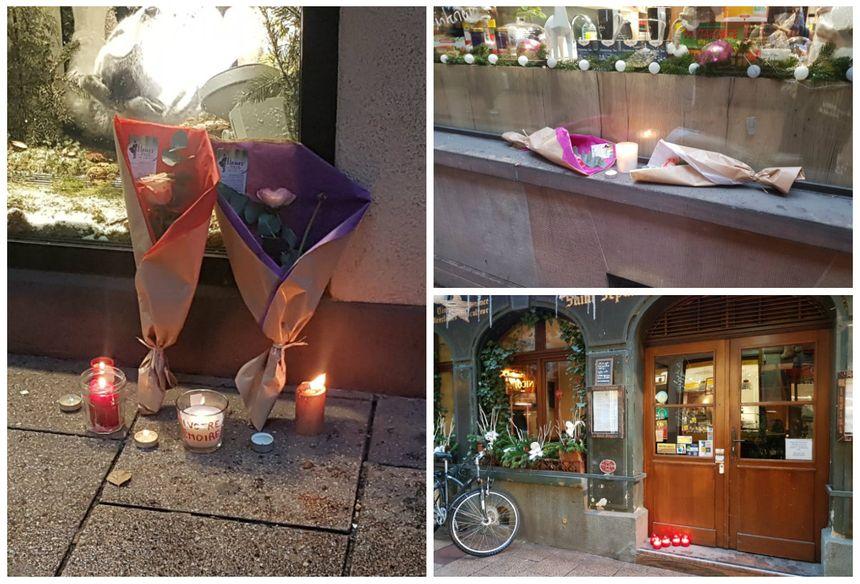 Des hommages discrets aux victimes rue des orfèvres à Strasbourg, un an après l'attentat