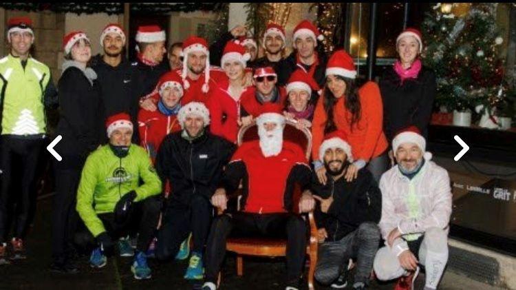 L'équipe des pères Noël sportifs