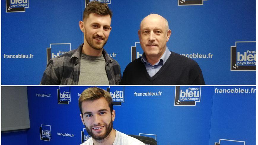 Mathieu Pons (Hormadi), Jean-Pierre Mainard (AB Foot, en haut) et Aymeric Luc (AB Rugby, en bas) dans 100% Club - France Bleu Pays Basque