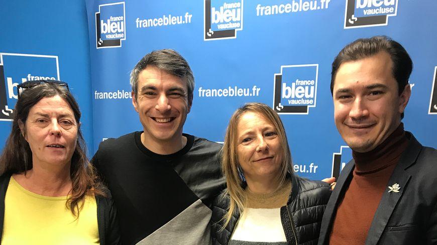 Nathalie MAZET, Thibaut PLANTEVIN, Sèverine MARTINEZ et Paulin REYNARD dans Aqui sian bèn !