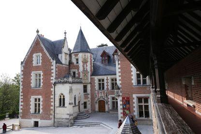 Château du Clos Lucé à Amboise non loin du château de ladite ville royale, mai 2019