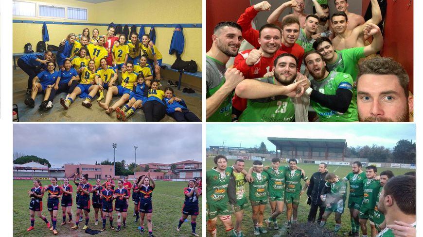 Les footballeuses de Canet, les handballeurs de Thuir, les treizistes de Saint-Estève et les quinzistes de Thuir sont à l'honneur