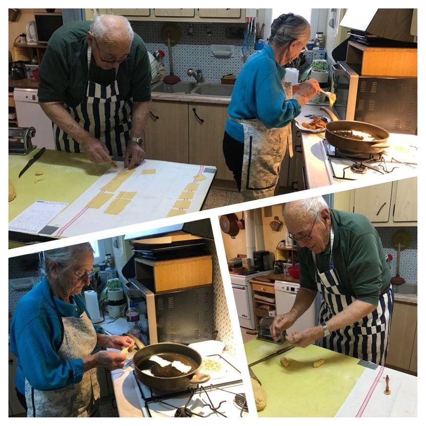 Hélène et Gilles CALAMEL préparent les oreillettes !