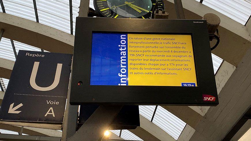 La grève se poursuit à la SNCF