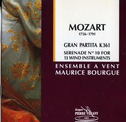 """Sérénade nº10 en Si Bemol Maj k 361 """"""""gran partita"""""""" - pour 13 instruments à vent : Adagio - Ensemble A Vents Maurice Bourgue"""