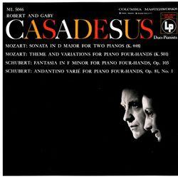 Sonate pour 2 pianos en Ré Maj K 448 : 1. Allegro con spirito - ROBERT CASADESUS
