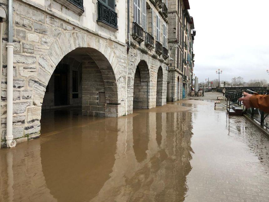 Le petit Bayonne sous l'eau