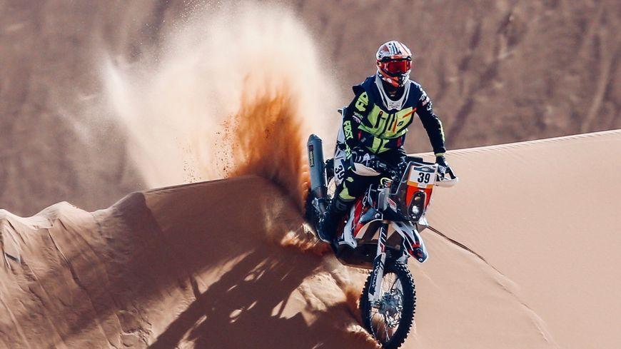 Sébastien Lagut au rallye de Merzouga au Maroc