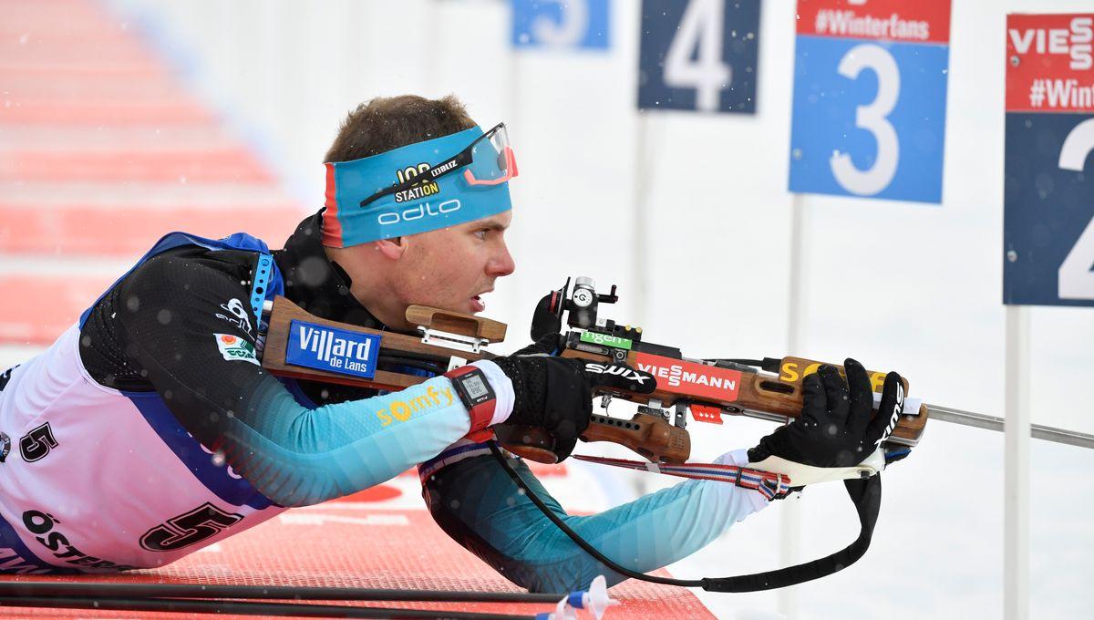 Biathlon : premier podium en carrière pour le Villardien Emilien Jacquelin
