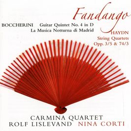 "Pochette de l'album ""Fandango"" par Quatuor Carmina"