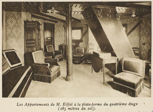Frères Neurdein - L'appartement de Gustave Eiffel au 4e étage de la tour Eiffel