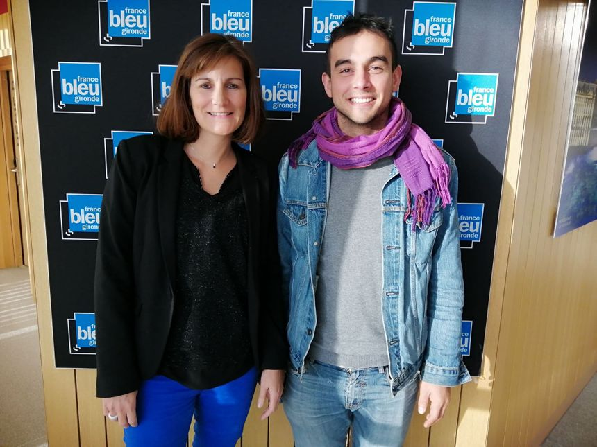 Camille Journet Directrice de la Communication et Laurent Orsini donneur universel