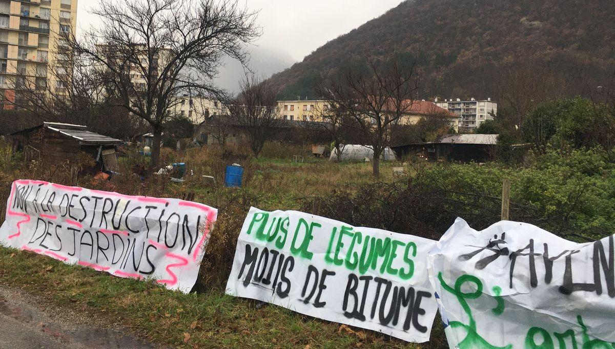 Des habitants se mobilisent contre la destruction des jardins de la Buisserate à Saint-Martin-le-Vinoux