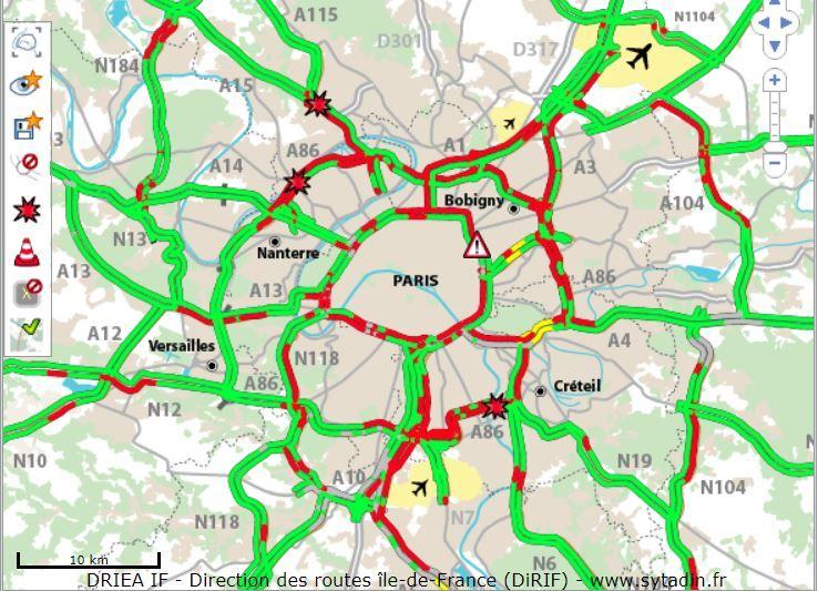 Difficile de circuler ce vendredi en Ile-de-France