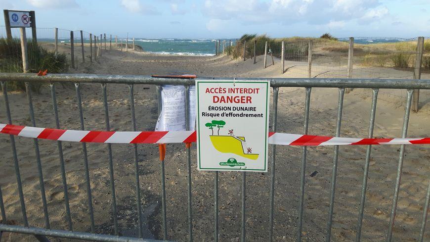 La plage de la Lagune à La Teste est fermée en raison d'une érosion rapide