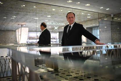 Le PDG de Mauboussin, Alain Némarq, dans une boutique parisienne en 2018.