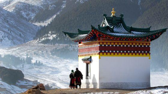 Temple bouddhiste au Tibet