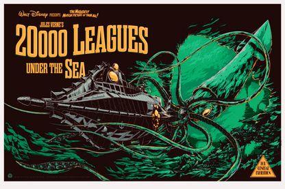 Affiche de l'adaptation de 20 000 lieues sous les mers
