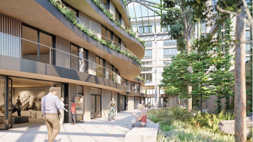 Sur le site de l'ancien cinéma Sirius avenue Foch, le projet Passage des cinémas prévoit des logements, un passage piéton traversant et paysager avec des commerces