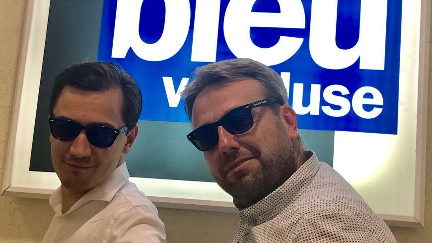 Paulin REYNARD et Simon CALAMEL, amé li besiclo Franço Blu Vau-Cluso !
