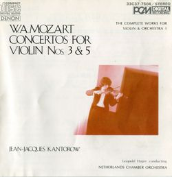Concerto n°5 en La Maj K 219 : Allegro aperto - pour violon et orchestre - JEAN JACQUES KANTOROW