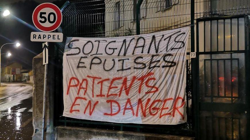 Les salariés de l'hôpital Sainte-Marie à Nice mobilisés ce vendredi matin