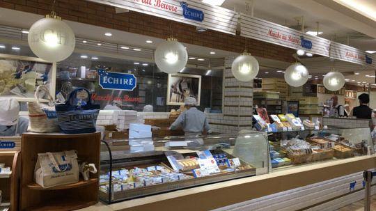 Le Beurre d'Echiré est présent jusqu'au Japon, comme ici dans une boutique à Osaka.