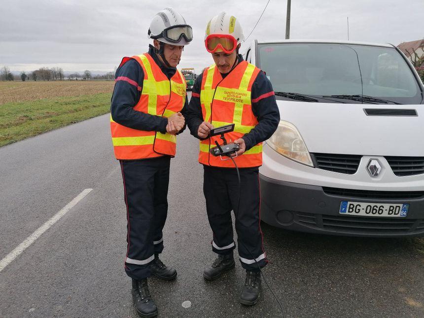 Les pompiers utilisent un drone pour évaluer les dégâts à Serres-Sainte-Marie.