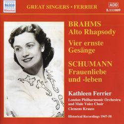 Frauenliebe und -leben op 42 : An meinem Herzen an meiner Brust - pour contralto et piano - KATHLEEN FERRIER