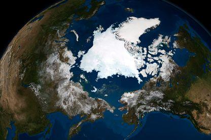 Glace de mer de l'Arctique.