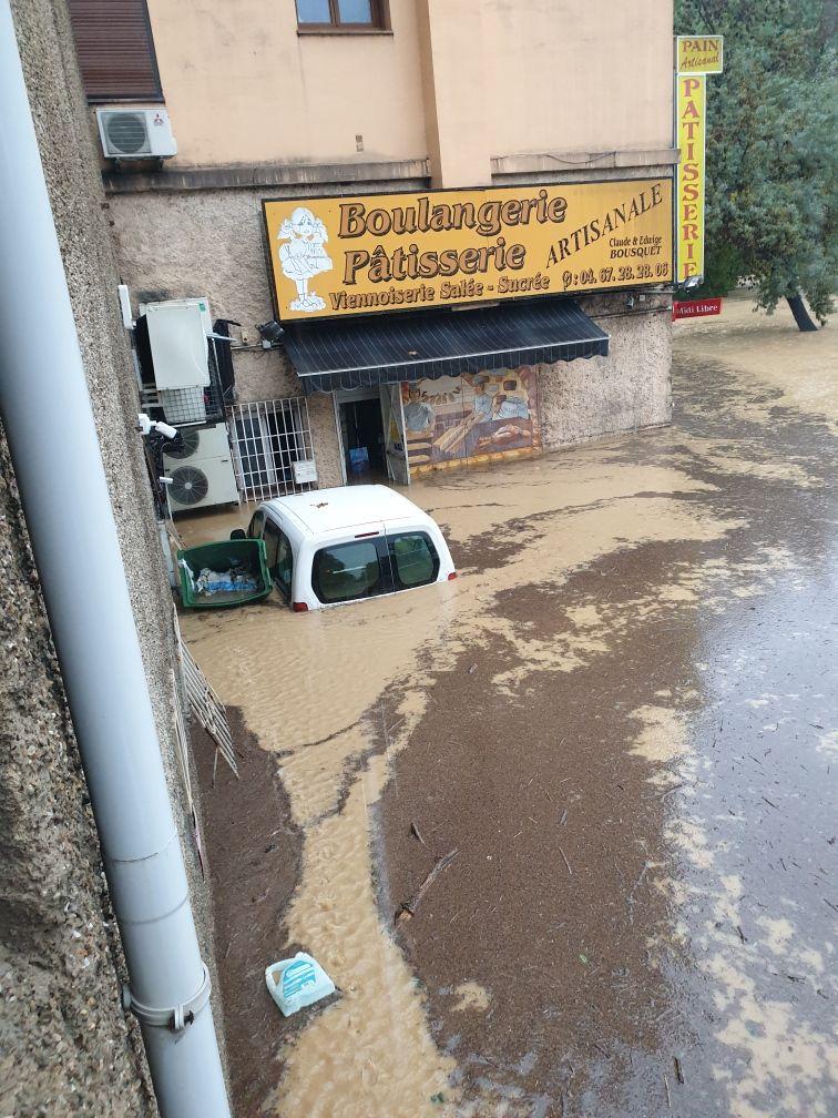 La boulangerie Bousquet inondée en octobre 20196