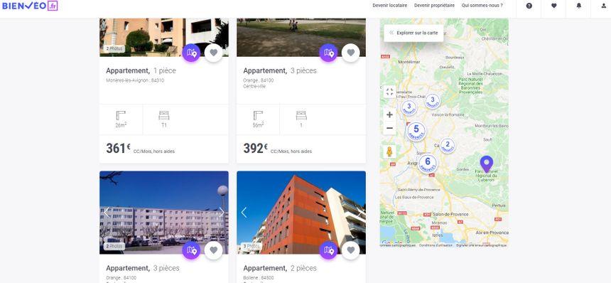Capture d'écran du site bienveo.fr
