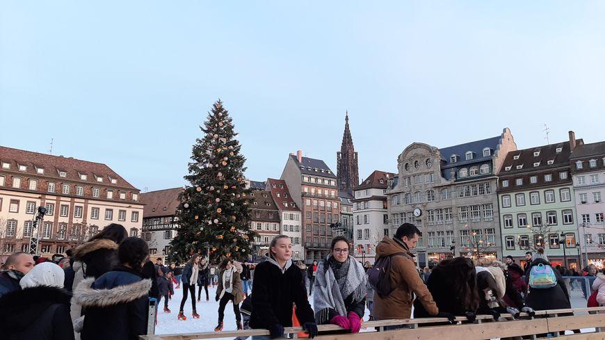 La patinoire de la place Kléber, à Strasbourg