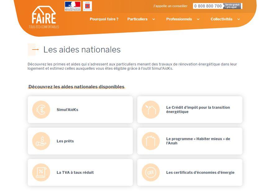 Le site internet FAIRE.fr