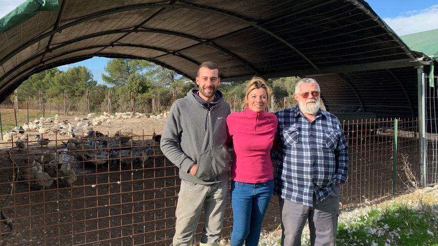 Nathalie et sa famille, producteurs de foie gras en Provence.