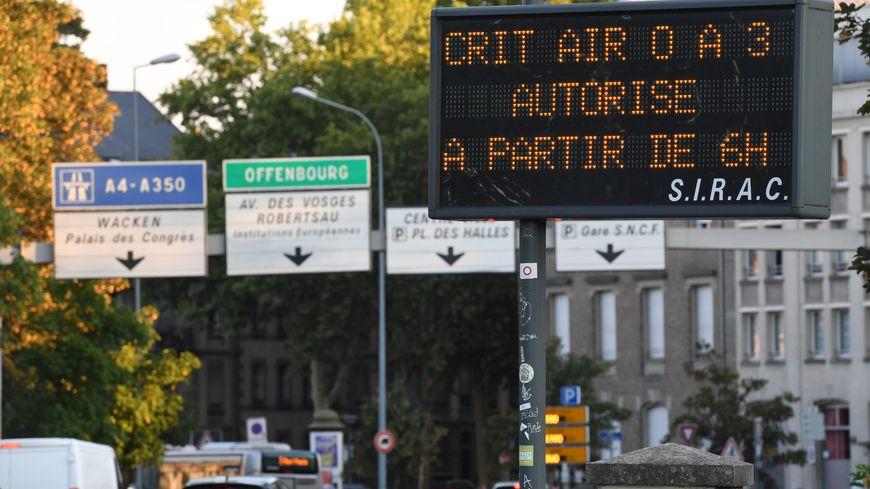 La circulation différenciée mise en place à Strasbourg en cas de pic de pollution.