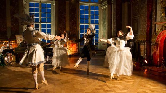 Ballet et orchestre baroque - Illustration