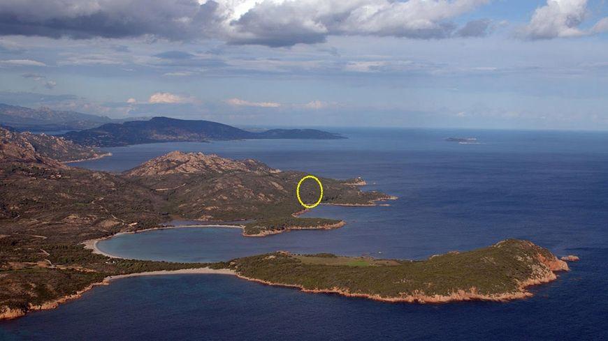 Le site de Rondinara et l'emplacement des villas Ferracci