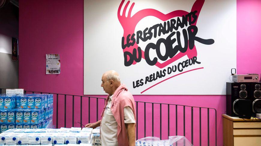 Un centre des Restos du Cœur à Paris