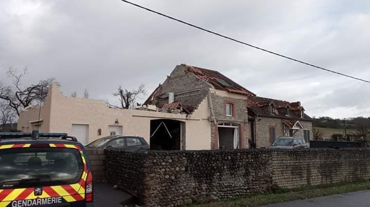La maison de Benjamin Laffite a été l'une des plus touchées par la tornade à Serres-Sainte-Marie.