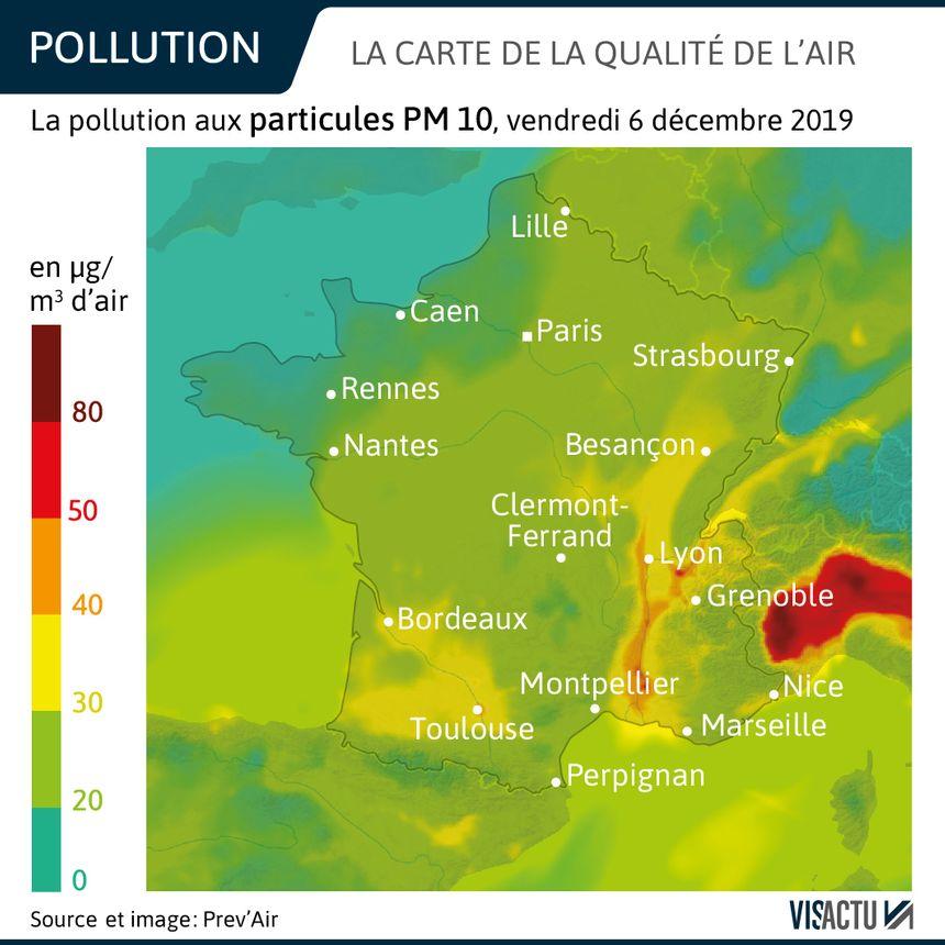 Carte de la qualité de l'air