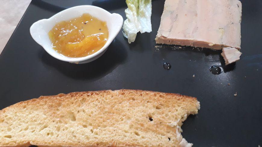 Foie gras et chutney de mangue