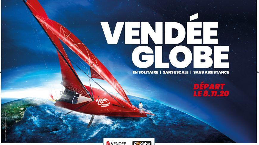Voici l'affiche du Vendée Globe 2020 dévoilée ce lundi 16 décembre 2019.