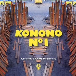 "Pochette de l'album ""Assume crash position"" par Konono N°1"